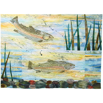 art quilts and surface design by jean wells